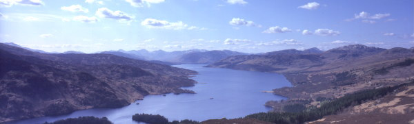 Loch Katrine, with the SS Sir Walter Scott steaming up the loch surrounded by the stunning landscapes that inspired Sir Walter Scott to write The Lady of the Lake