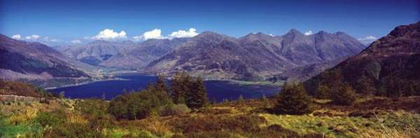 Five Sisters of Kintail. Clan lands of the Macraes,MacKenzies, and the MacLennans.